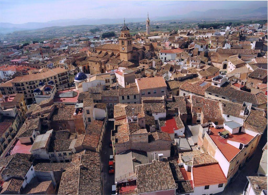 Het oude centrum van Hellín (Foto: Panoramio)