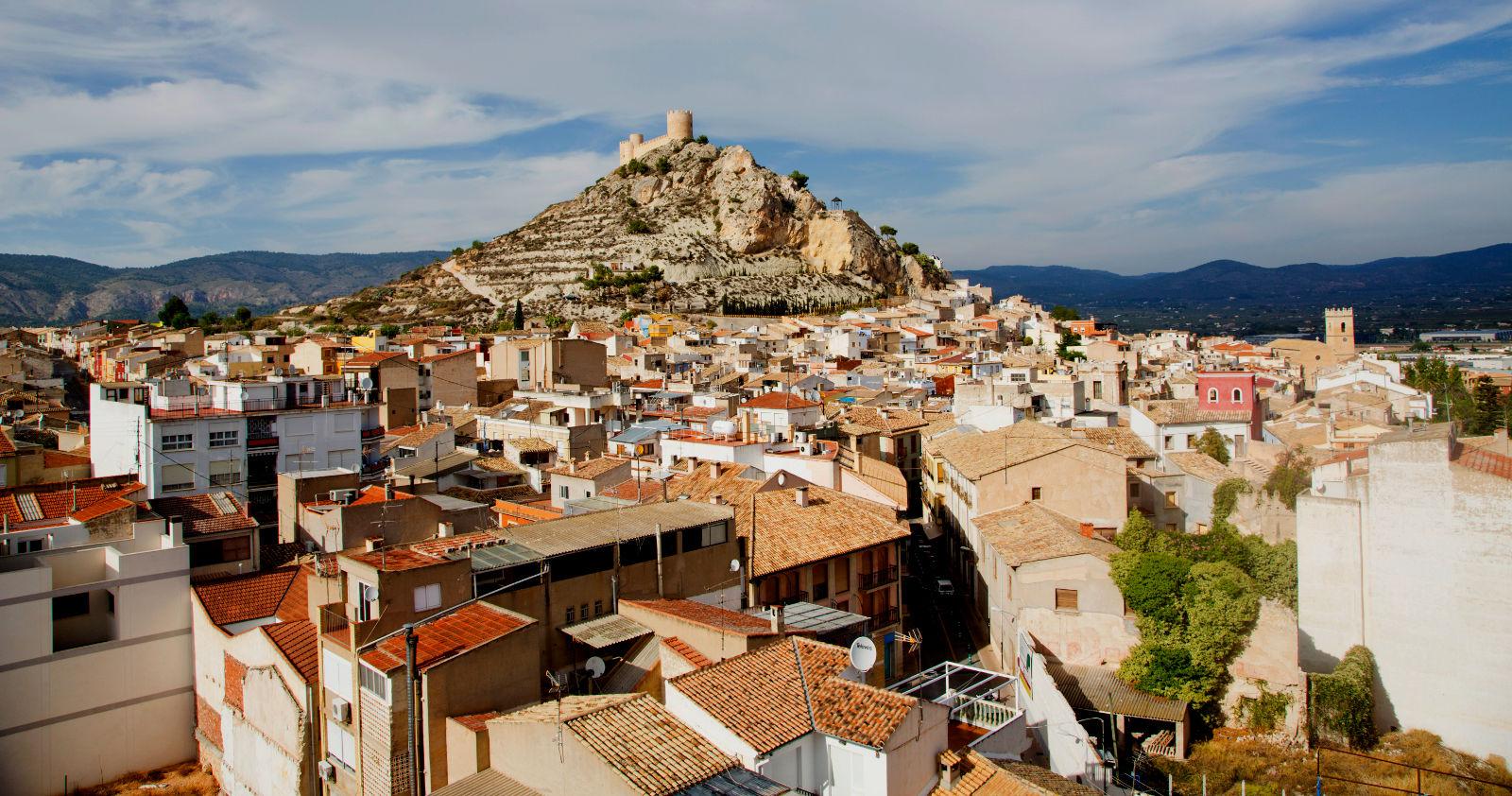 Het kasteel in Castalla (Foto: Panoramio)