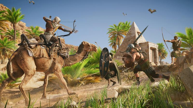 Assassin's Creed Origins - Kameel en boog (Foto: Ubisoft)