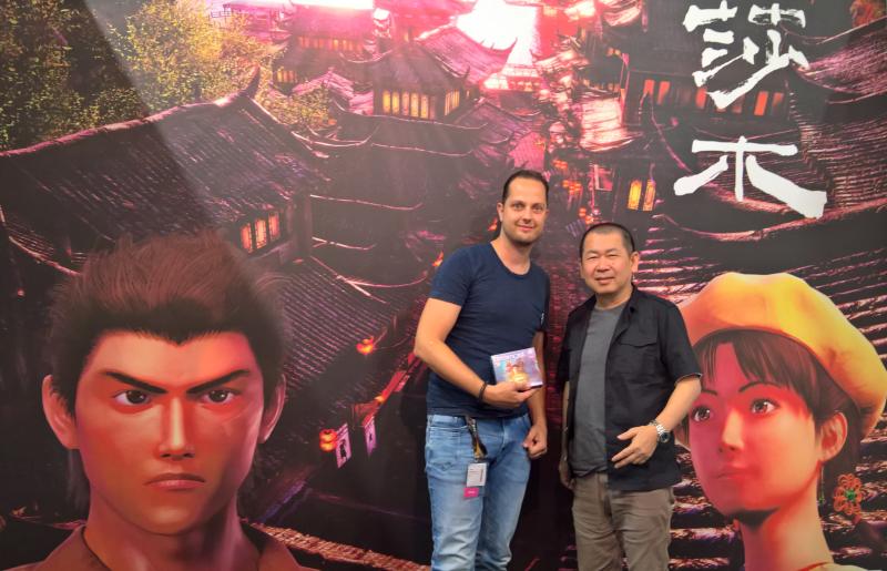 SolidDs en Yu Suzuki op Gamescom 2017