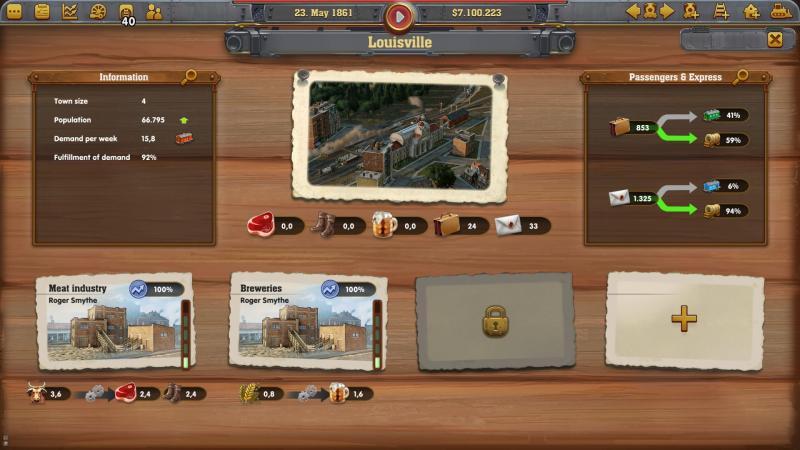 Railway Empire - Overzicht stad