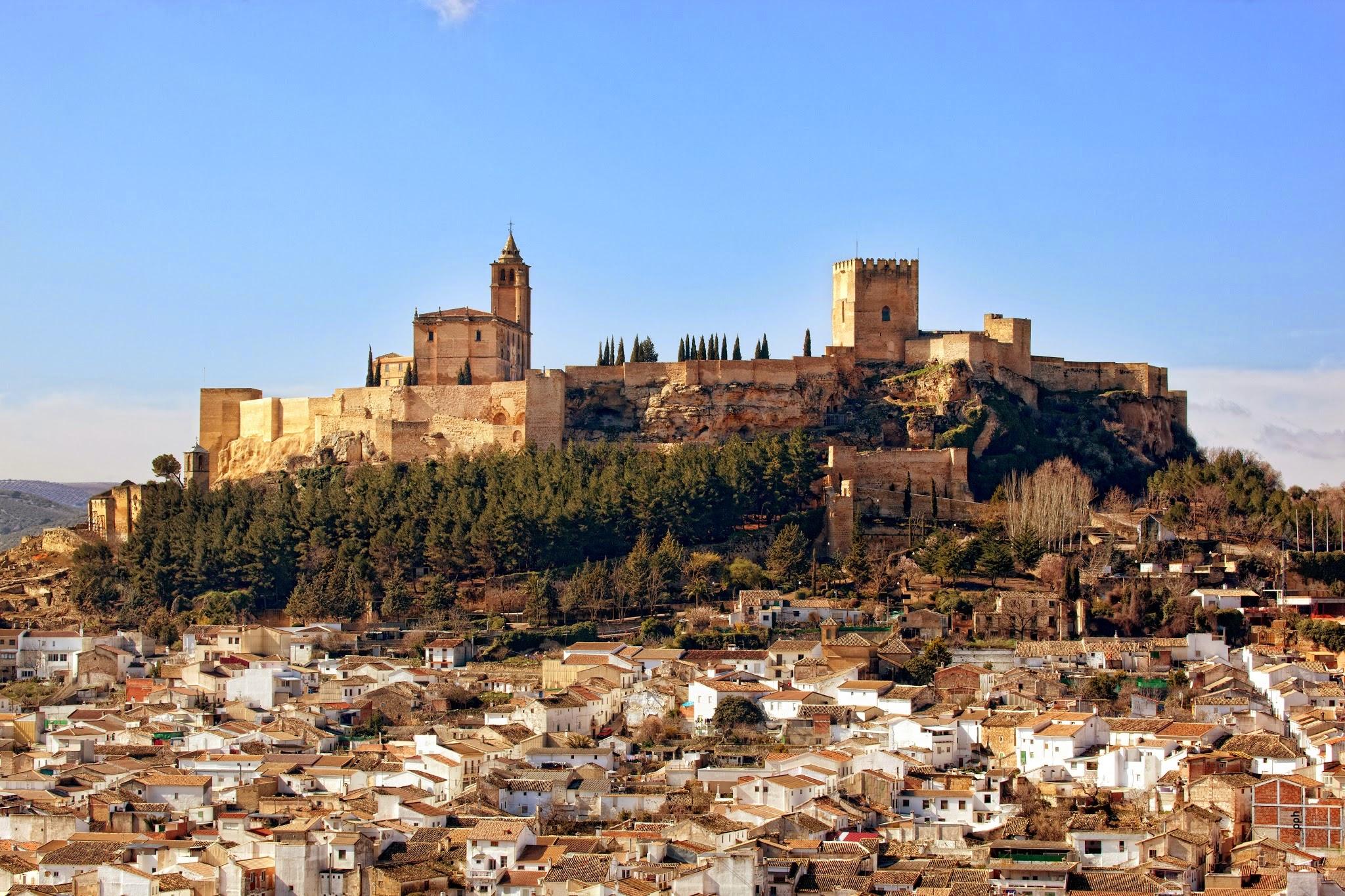 Het prachtige fort van Alcalá la Real (Foto: Panoramio)