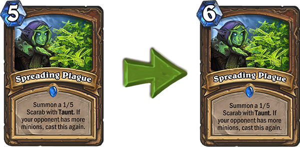 Spreading Plague Nerf Hearthstone
