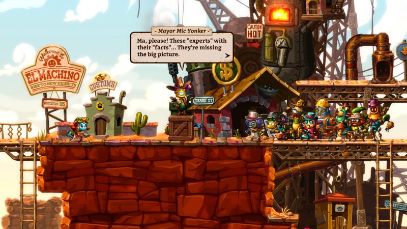 Steamworld Dig 2 - Burgemeester