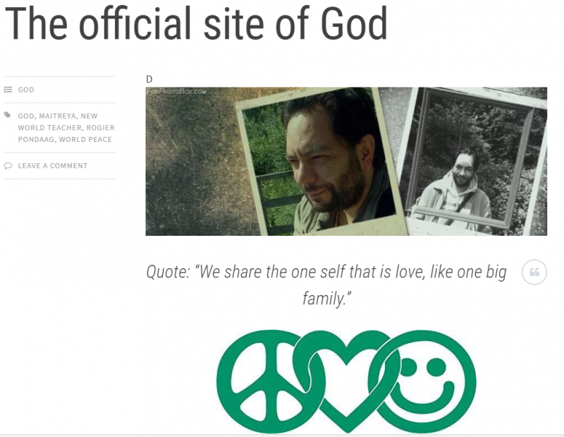 Official site of God