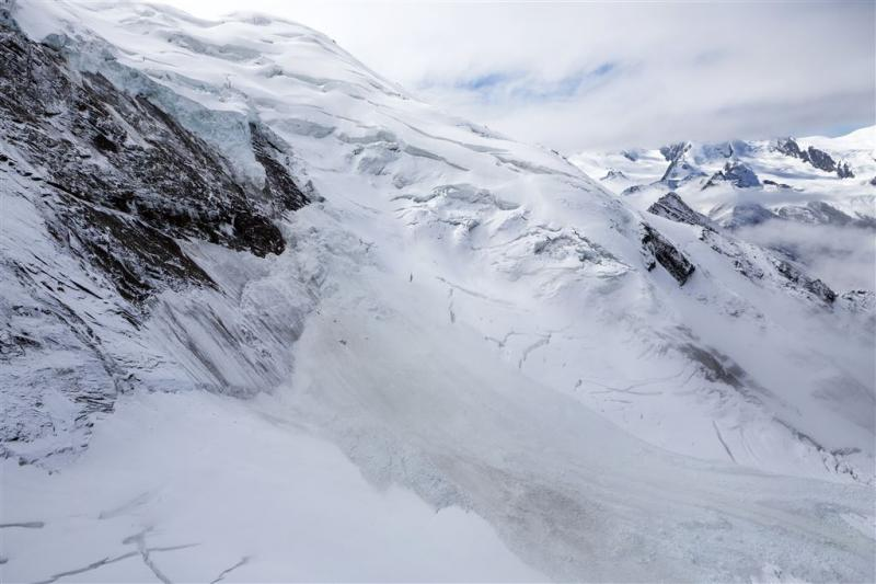 Gletsjer in Zwitserland breekt af