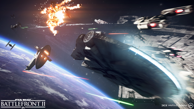 Star Wars: Battlefront 2 - Falcon vs Slave (Foto: Electronic Arts)