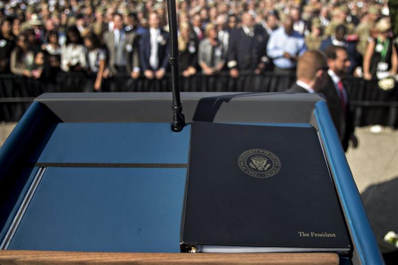 VS herdenken terreuraanslagen 11 september
