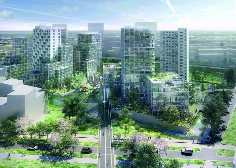 Impressie nieuwe Bijlmer Kwartier (Foto: Gebieds- en vastgoedontwikkelaar AM)