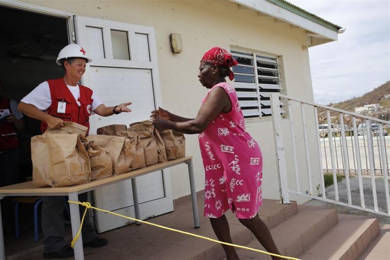 Voedselhulp Sint-Maarten komt op gang