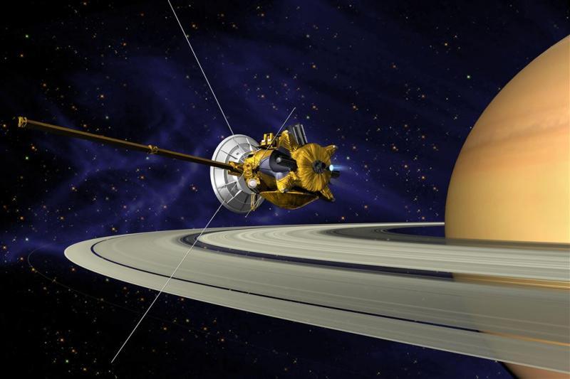 Ruimtesonde vergaat op planeet Saturnus