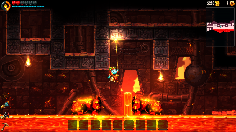 SteamWorld Dig 2 - Grappling hook
