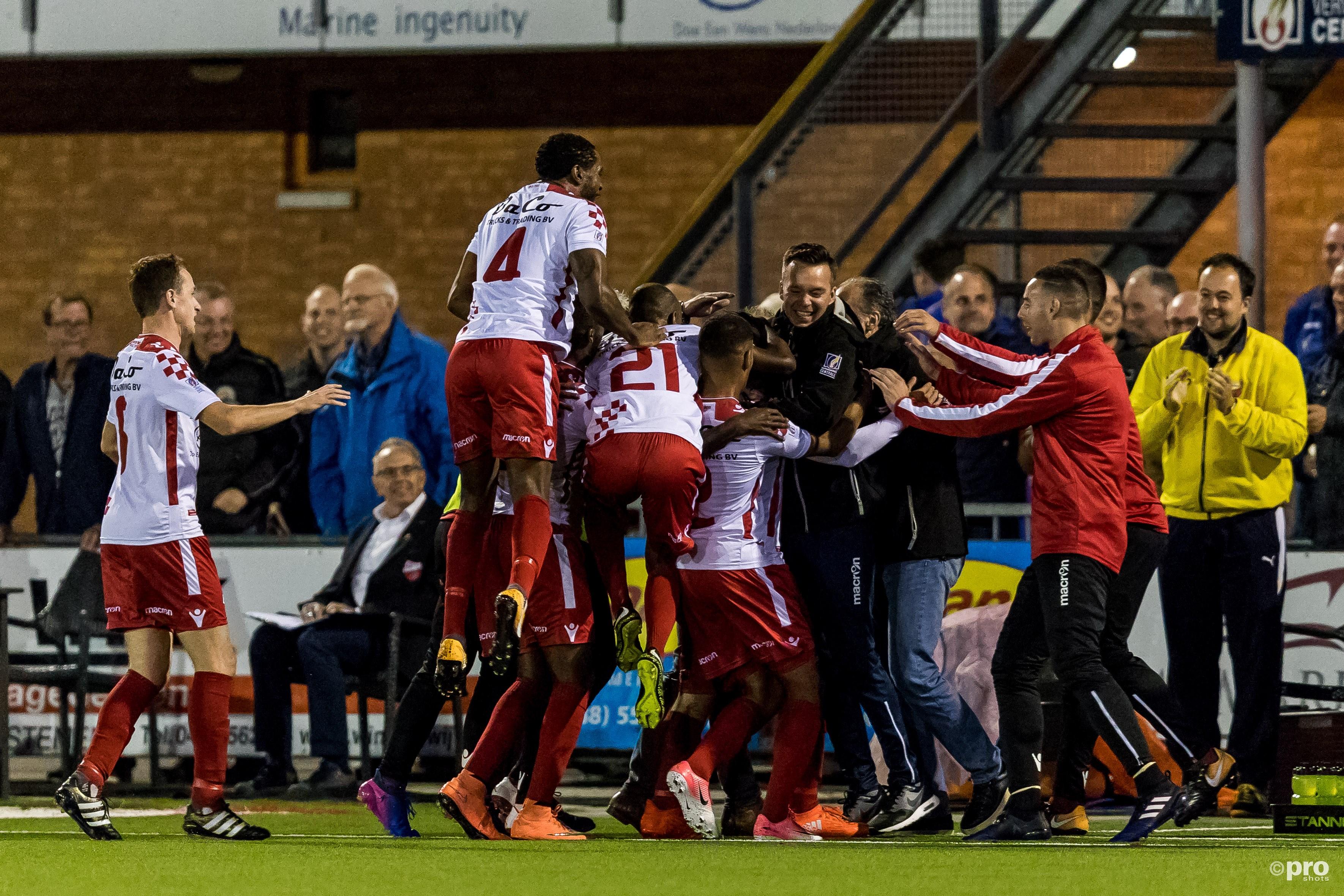 Kozakken Boys viert de 1-0. (PRO SHOTS/Marcel van Dorst)