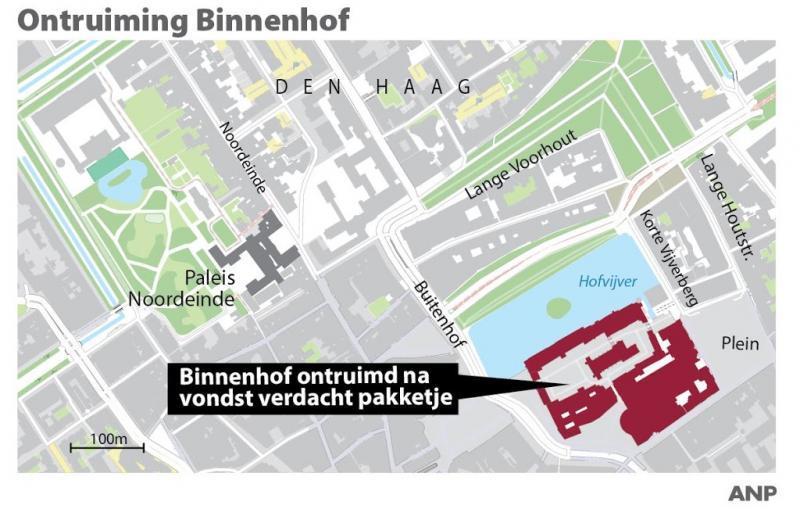 Binnenhof vrijgegeven na verdacht pakketje