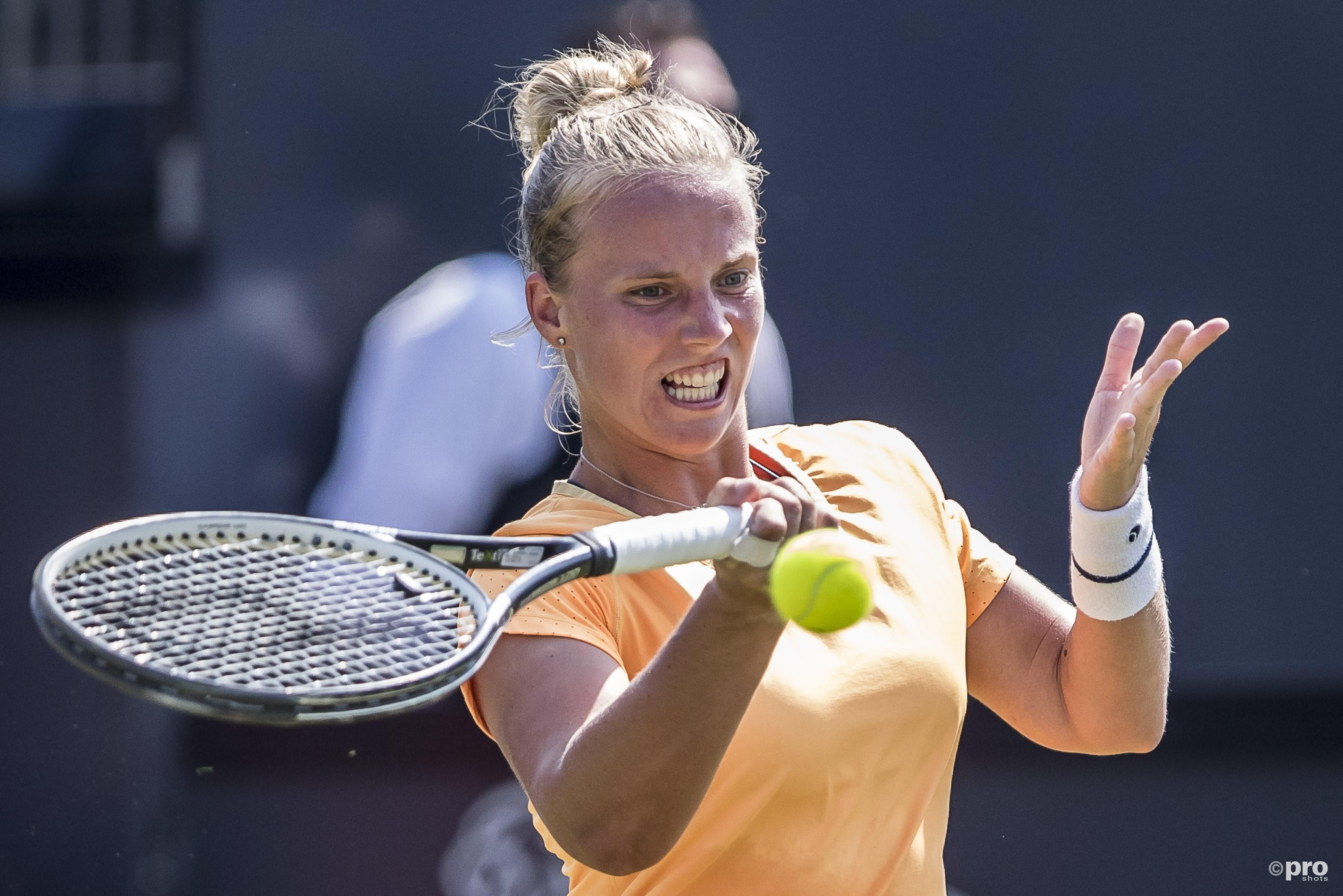 Richel Hogenkamp  gaat in eerste WTA halve finale onderuit. (PRO SHOTS/Joep Leenen)