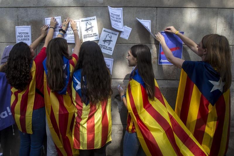 Catalaanse separatisten opnieuw de straat op