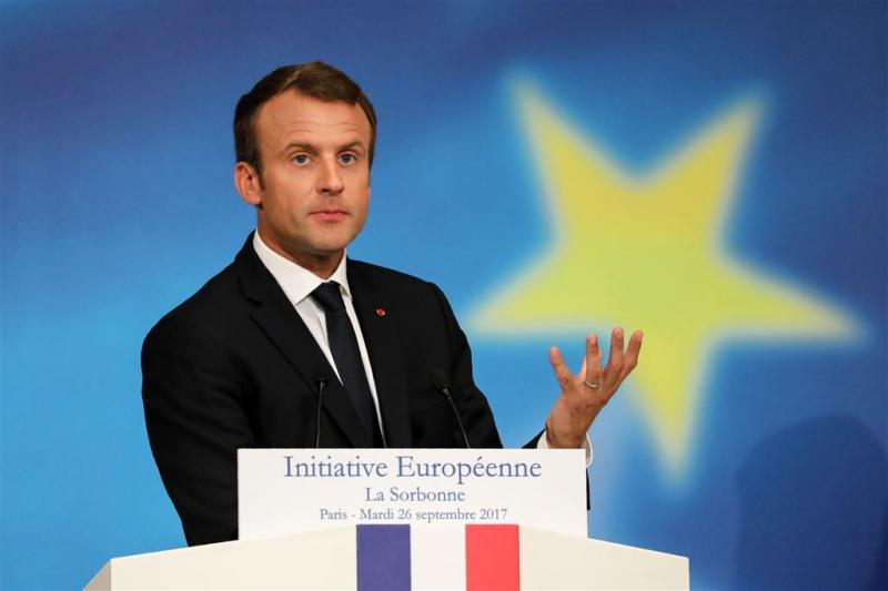 Macron pleit voor Europees interventiemacht