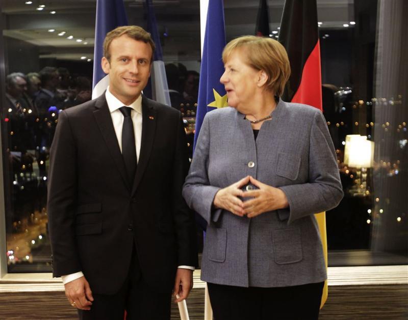 Merkel op veel punten eens met Macron