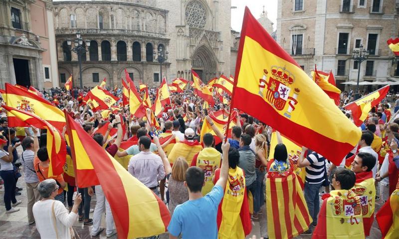 Betogingen tegen referendum Catalonië