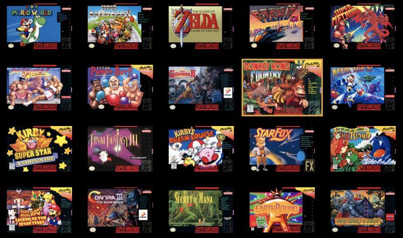 SNES Classic Mini - Games (Foto: Nintendo)