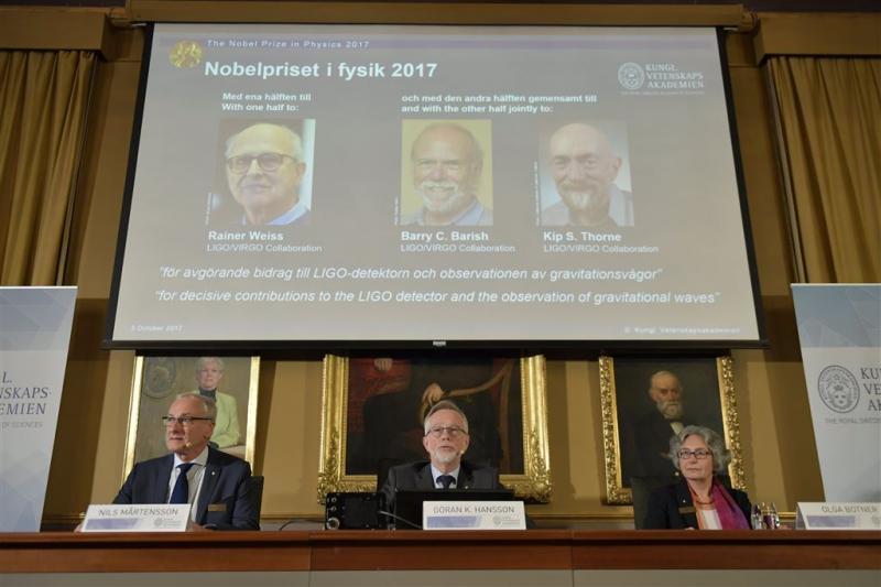 Nobelprijs voor bewijs zwaartekrachtgolven