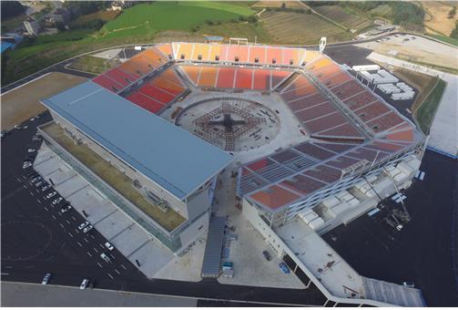 Het in aanbouw zijnde Olympisch Stadion van Pyeongchang (WikiCommons)