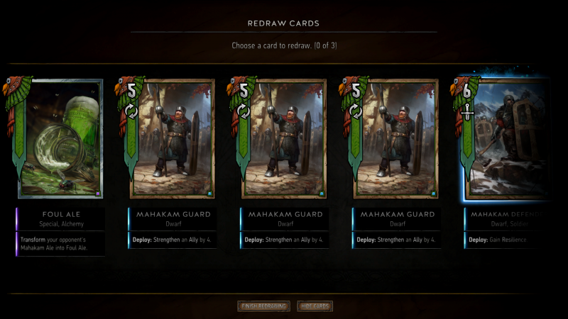Gwent - Begin Mahakam (mulligan)