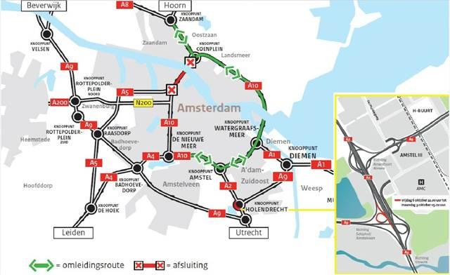 Coentunnel afgesloten voor verkeer (Foto: Rijkswaterstaat)