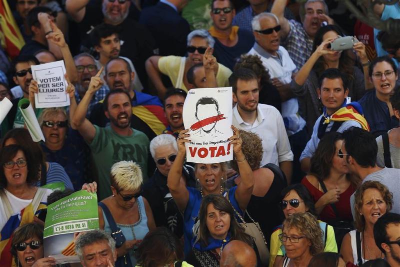Officiële uitslag Catalonië: 90,18 procent ja