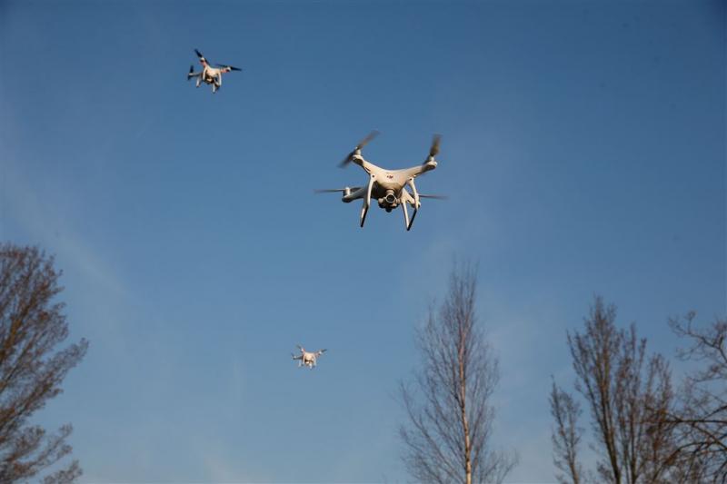 Politie gebruikt drones in Oost-Nederland