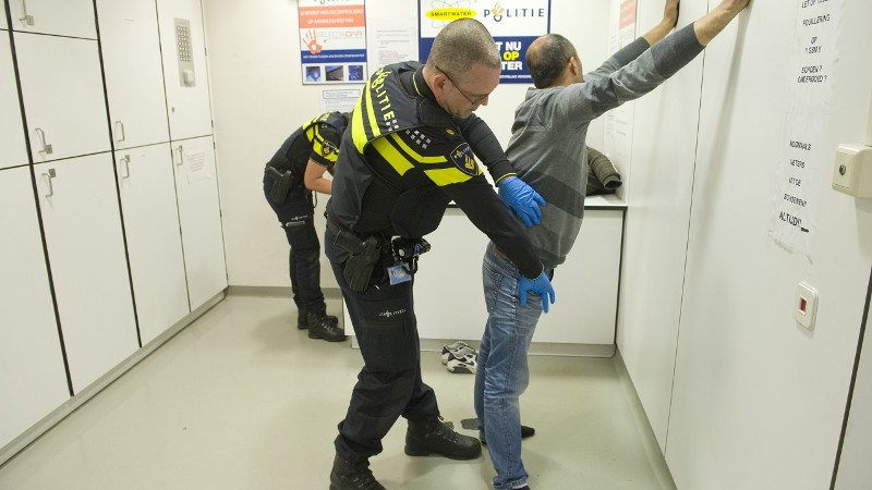 Politie pakt slapende koperdief op (foto: Politie.nl)