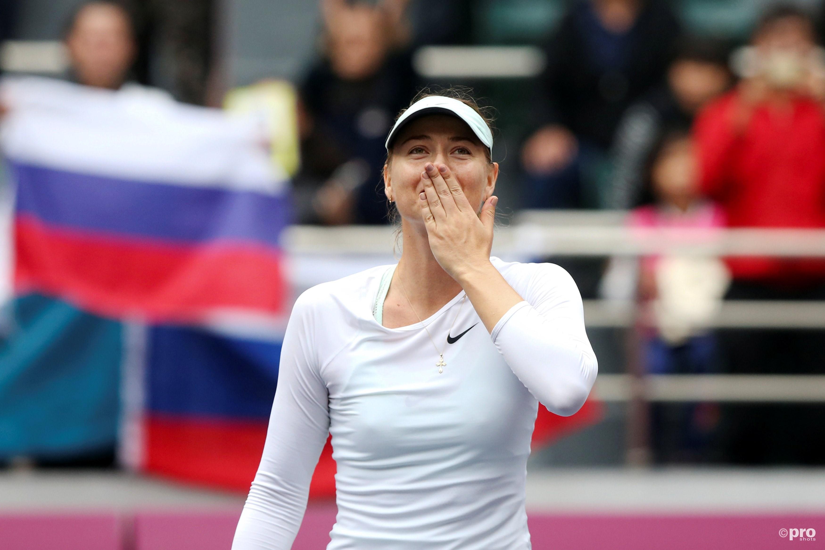 Maria Sharapova wint weer eens een titel. (PRO SHOTS/Action Images)