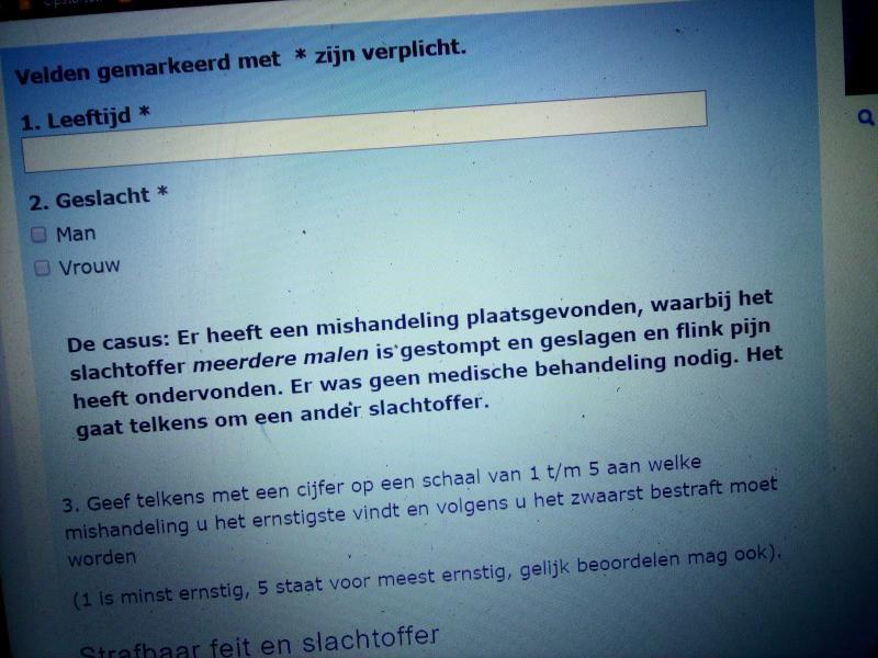OM: 'Uw mening telt, voor een rechtvaardige samenleving'  (Foto: Screenshot website Openbaar Ministerie)