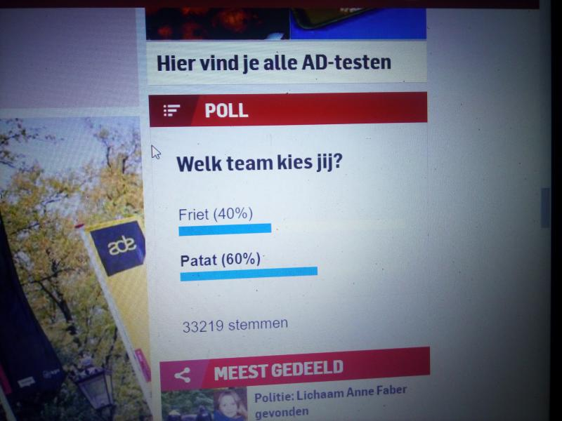 Patat of friet?  (Foto: Screenshot website Algemeen Dagblad)