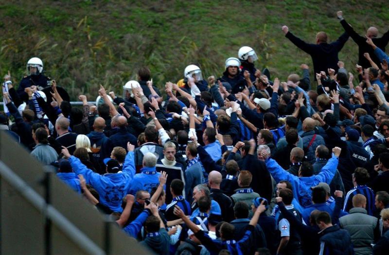 Voetbalrellen in Brugge