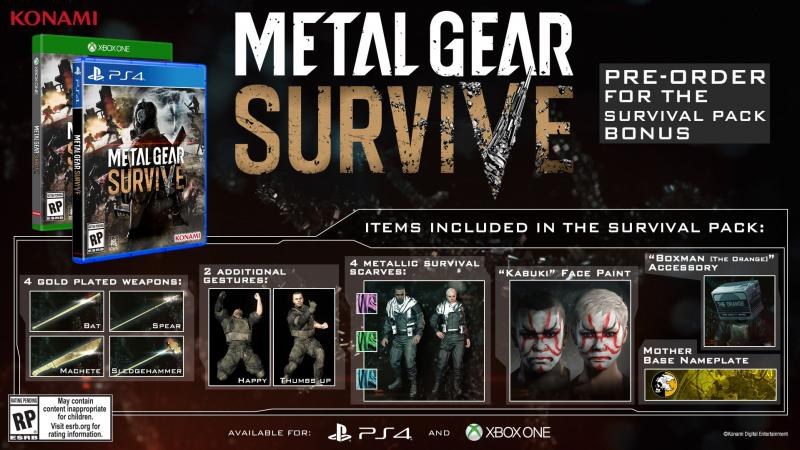 Metal Gear Survive - Survival Pack (Foto: Konami)
