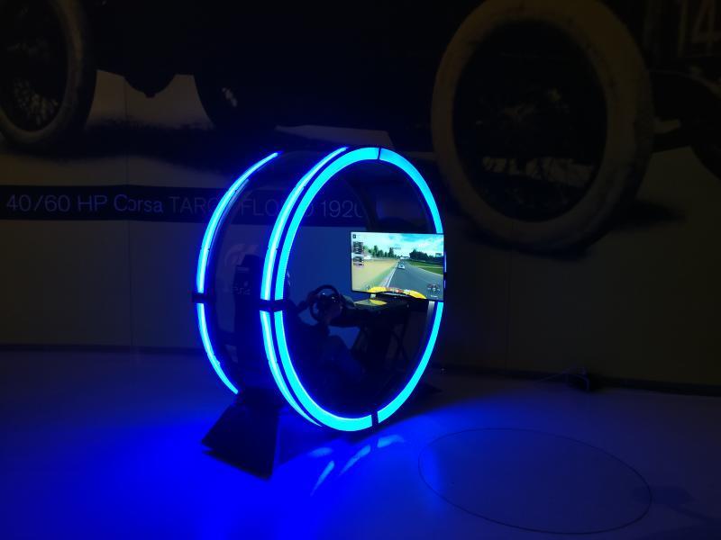 Gran Turismo Sport - simulator in Ferrari museum