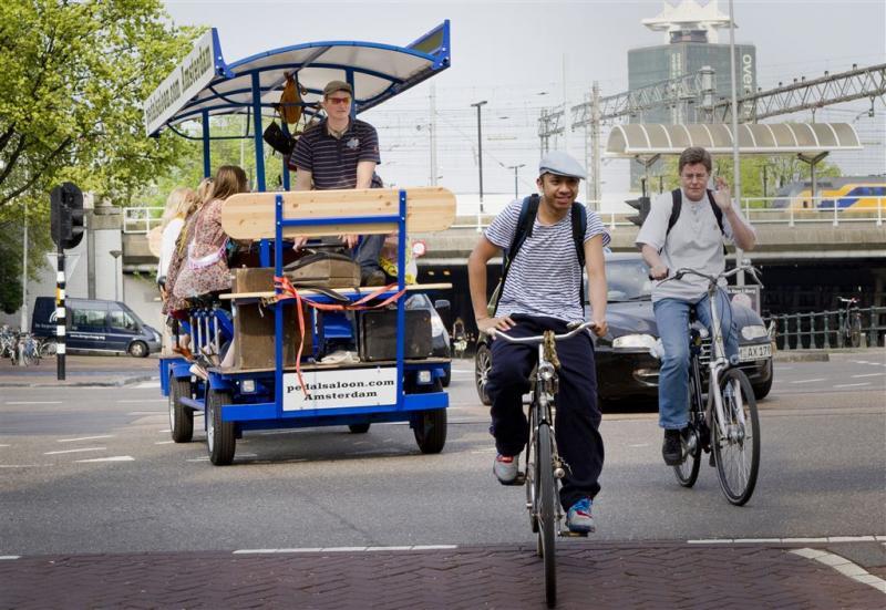 Amsterdam mag bierfiets weren uit centrum