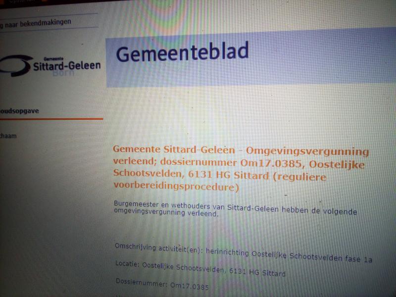 Sittardse soap: nu met referendum  (Foto: Screenshot website officiële bekendmakingen )