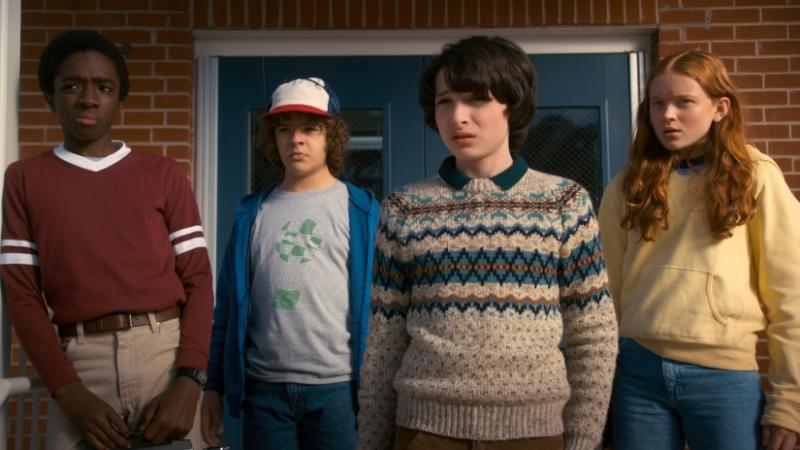Stranger Things 2 Lucas Mike Dustin Max