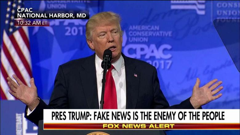 Trump is ook tegen fakenieuws