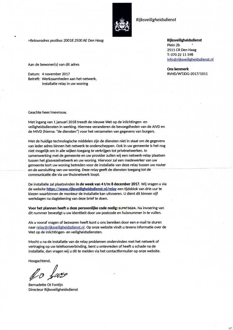 Bits of Freedom stunt met Rijksveiligheidsdienst