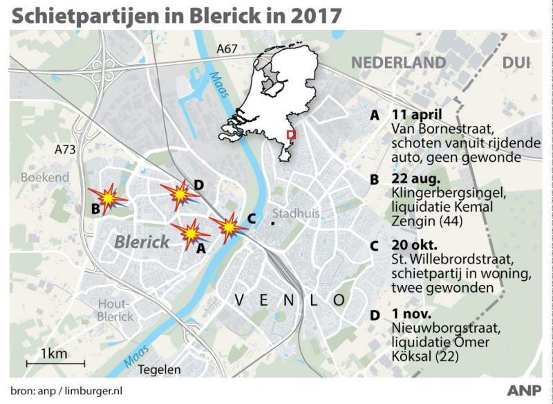 Verdachte schietpartij Blerick vrijgelaten