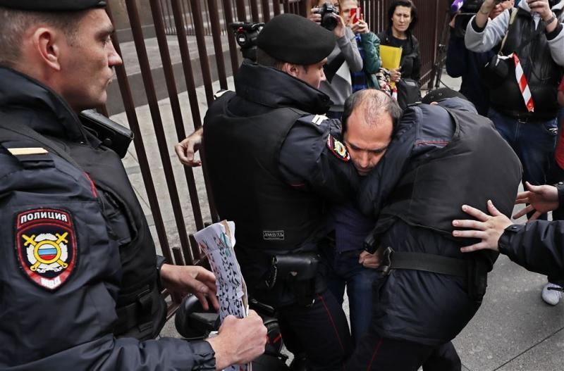 Russische politie pakt 260 'nationalisten' op