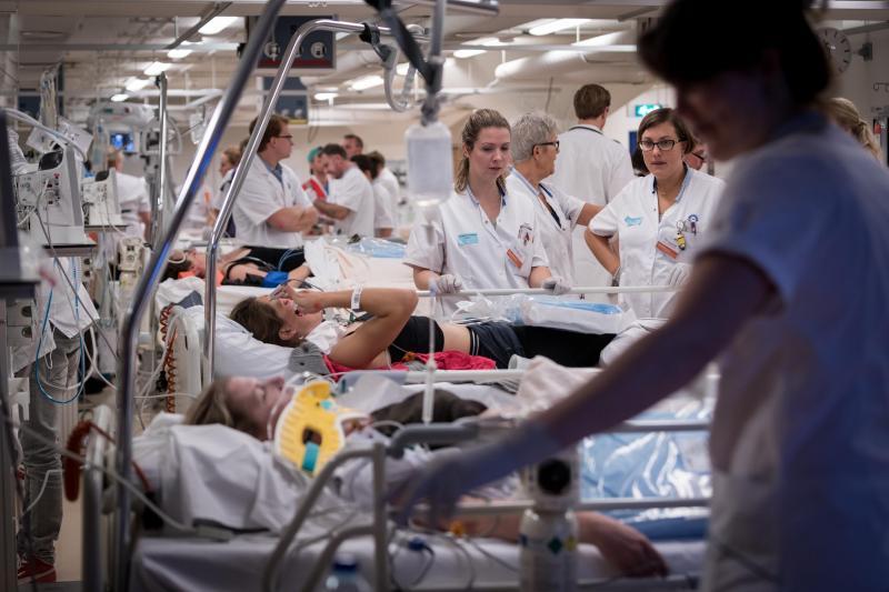 'Slapend' Calamiteitenhospitaal voor even springlevend (Foto: Ministerie van Defensie)
