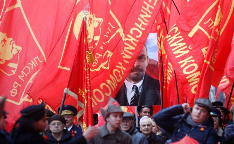 Communisten herdenken Oktoberrevolutie