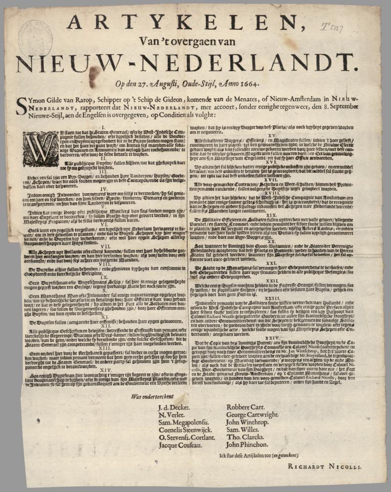 Het einde van Nieuw-Nederland