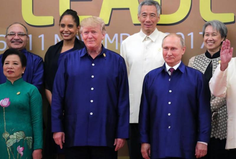 Slechts korte begroeting Poetin en Trump