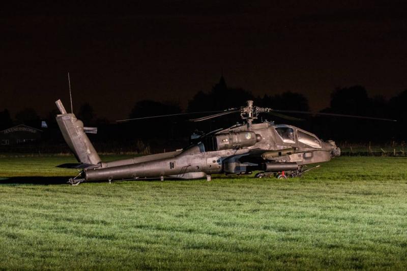 Onderzoeken naar ongeluk Apache begonnen