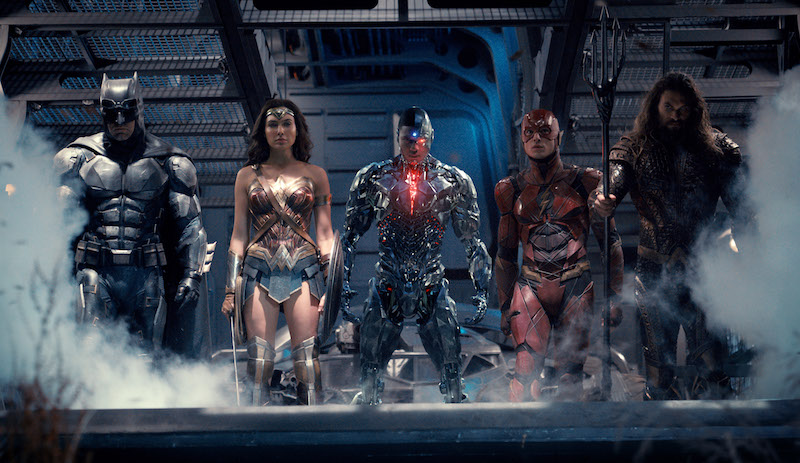 Justice League: Ben Affleck, Gal Gadot, Ray Fisher, Ezra Miller, Jason Momoa